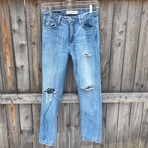 Flying Monkey Distressed High Rise Skinny Jeans.